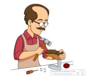 A shoemaker clipart
